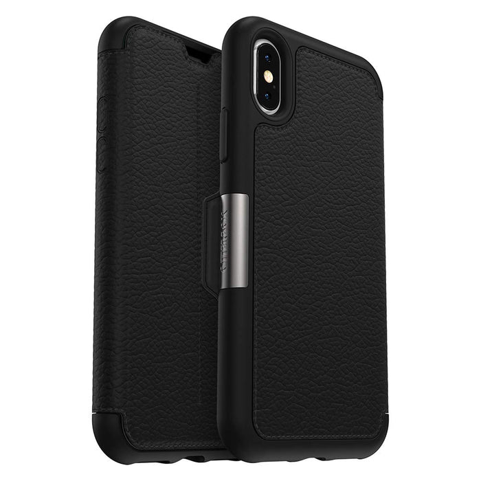 OtterBox STRADA FOLIO SERIES Case for iPhone X/Xs (ONLY) - Shadow (Certified Refurbished)