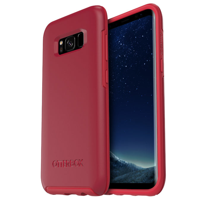 OtterBox SYMMETRY SERIES Case for Galaxy S8 (ONLY) - ROSSO CORSA (Certified Refurbished)