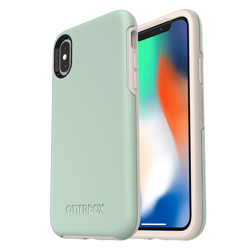 OtterBox SYMMETRY SERIES Case for iPhone X / iPhone Xs - Muted Waters (Certified Refurbished)
