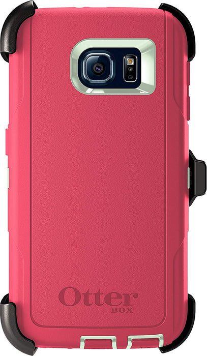 OtterBox DEFENDER SERIES Case & Holster for Galaxy S6 (ONLY) - Melon Pop (Certified Refurbished)