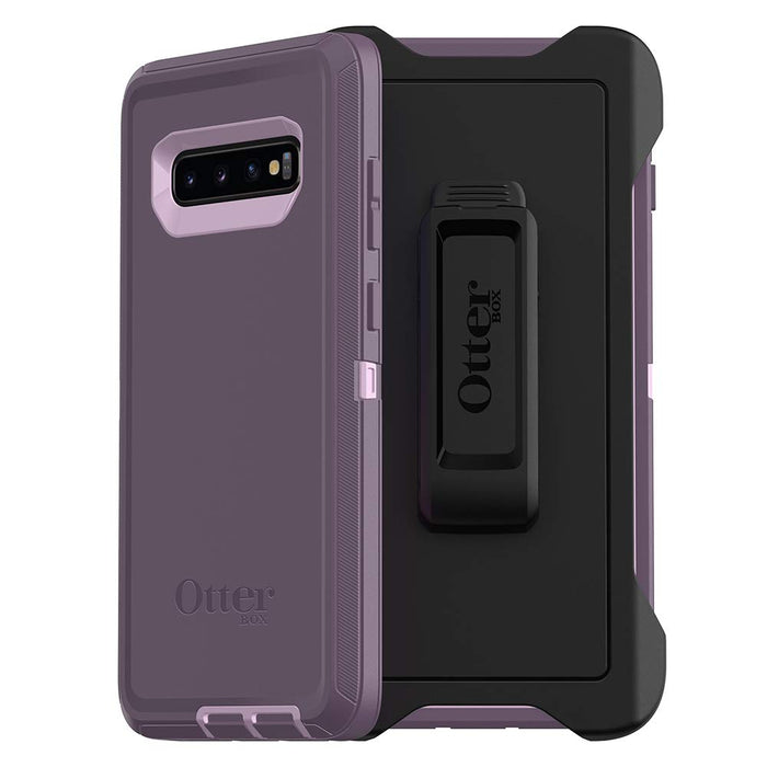 OtterBox DEFENDER SERIES Case & Holster for Galaxy S10 Plus (ONLY) - Purple Nebula (Certified Refurbished)