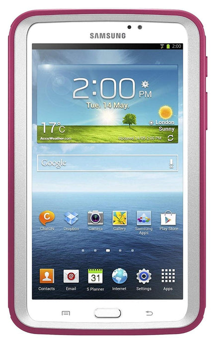 OtterBox DEFENDER SERIES Case & Stand for Galaxy Tab 3 7.0 (ONLY) - Papaya (Certified Refurbished)