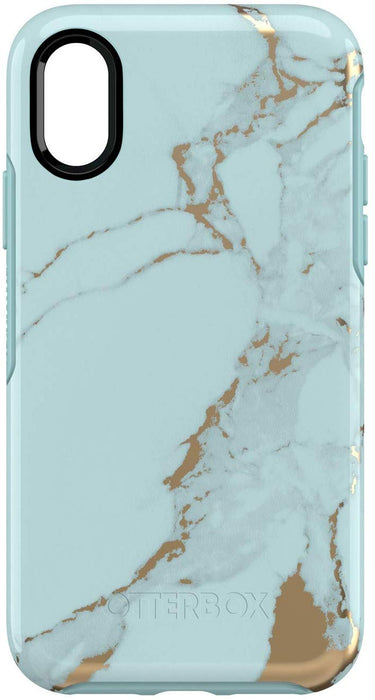 Otterbox SYMMETRY SERIES Case for iPhone X / XS (ONLY) - Teal Marble (Certified Refurbished)