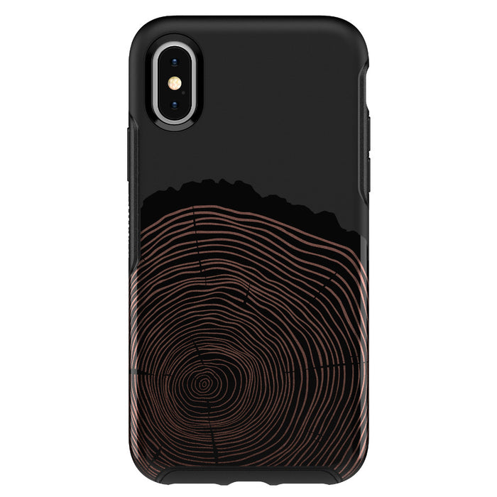 Otterbox SYMMETRY SERIES Case for iPhone X / XS (ONLY) - Wood You Rather Black (Certified Refurbished)