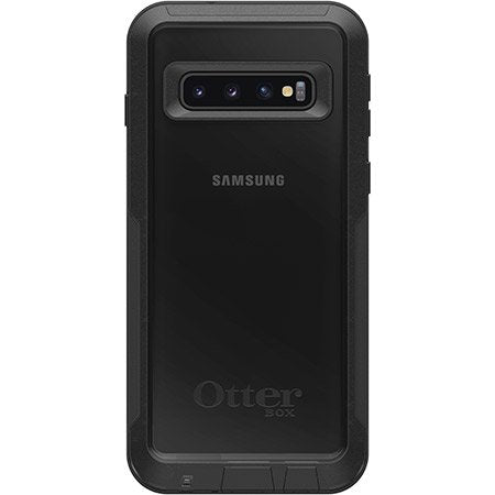 OtterBox PURSUIT SERIES Tough Case for Galaxy S10+ Plus - Black / Clear (Certified Refurbished)