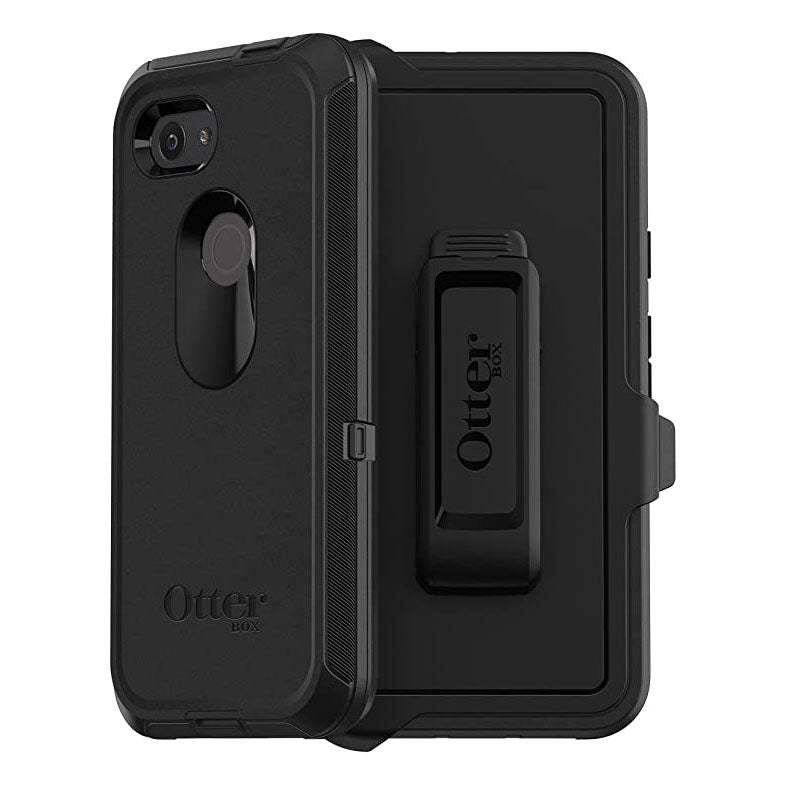 OtterBox DEFENDER SERIES Case & Holster for Google Pixel 3A - Black (Certified Refurbished)