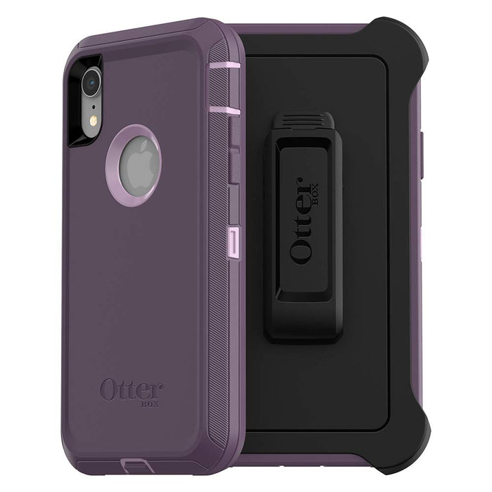 Otterbox DEFENDER SERIES Case & Holster for iPhone XR (ONLY) - Purple Nebula (Certified Refurbished)