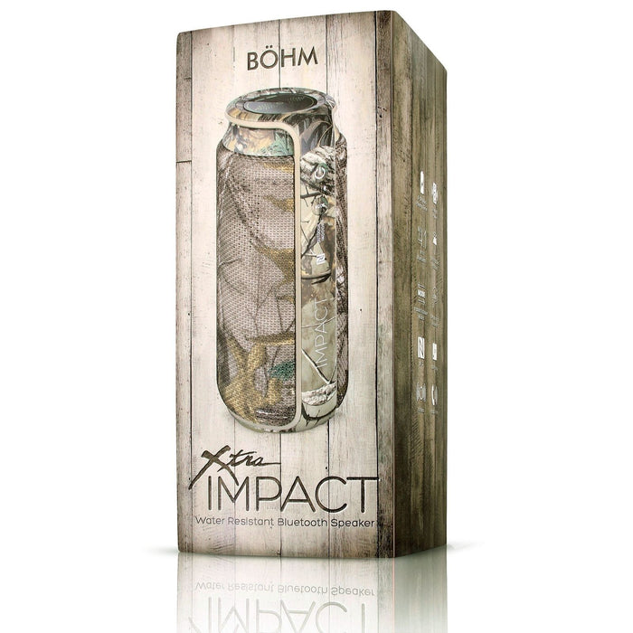 BÖHM XTRA IMPACT Water Resistant Portable Bluetooth Speaker 24W Realtree Camo (Certified Refurbished)