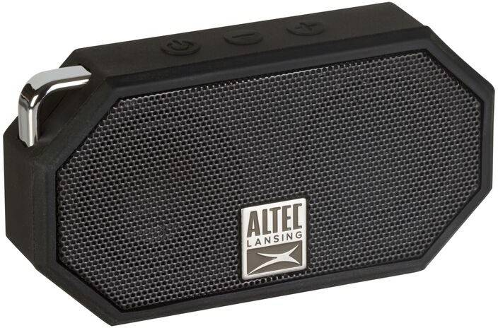 Altec Lansing IMW257 Mini H2O Wireless Bluetooth Waterproof Speaker - Black (Certified Refurbished)
