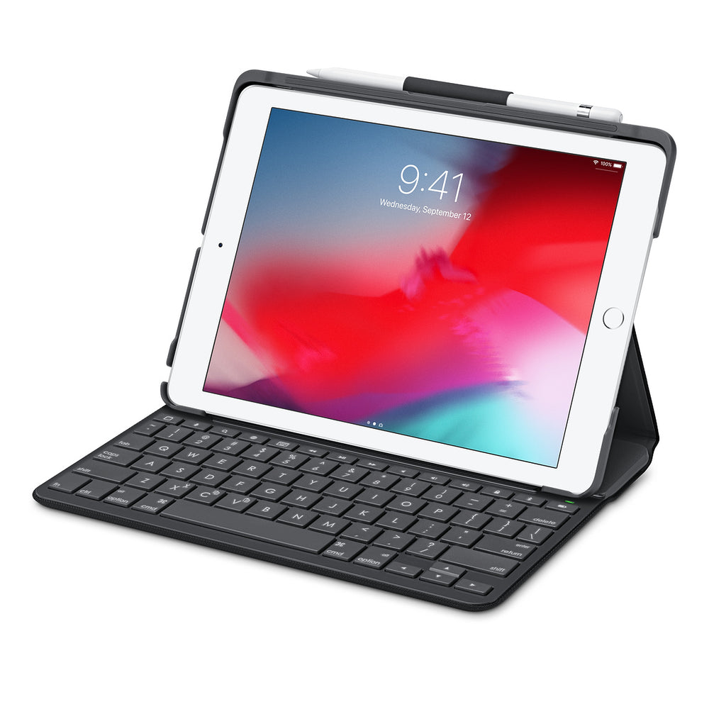 Logitech Slim Folio Keyboard Case for Apple iPad 5th & 6th Generation - Black (Certified Refurbished)