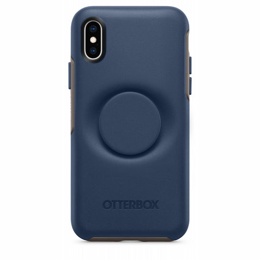 OtterBox + POP SYMMETRY SERIES Case for iPhone X / iPhone XS - Go To Blue (Certified Refurbished)