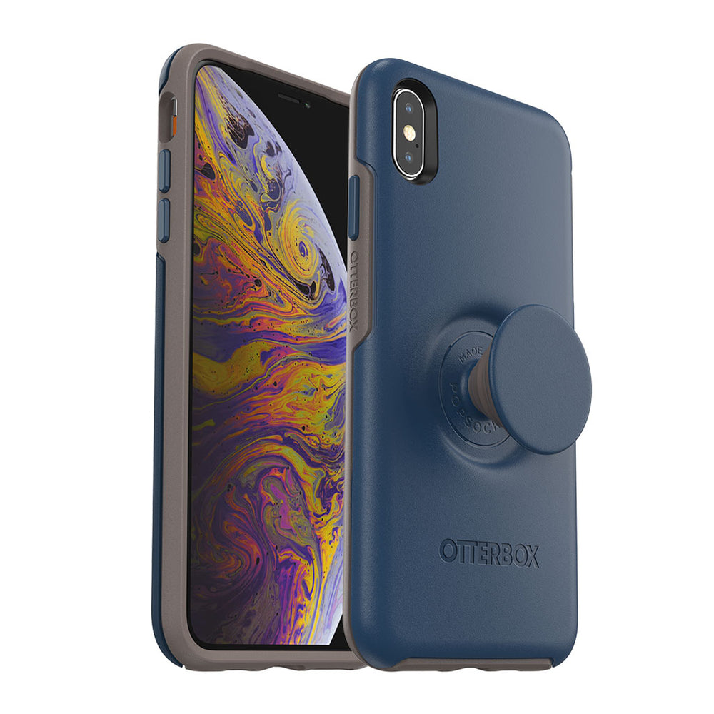 OtterBox + Pop SYMMETRY SERIES Case for iPhone XS Max (ONLY) - Go To Blue (Certified Refurbished)