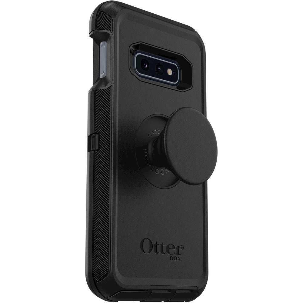 OtterBox + Pop DEFENDER SERIES Case for Galaxy S10E (ONLY) - Black (Certified Refurbished)