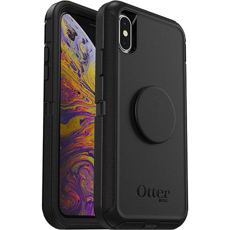 OtterBox + Pop DEFENDER SERIES Case for iPhone X / XS - Black (Certified Refurbished)