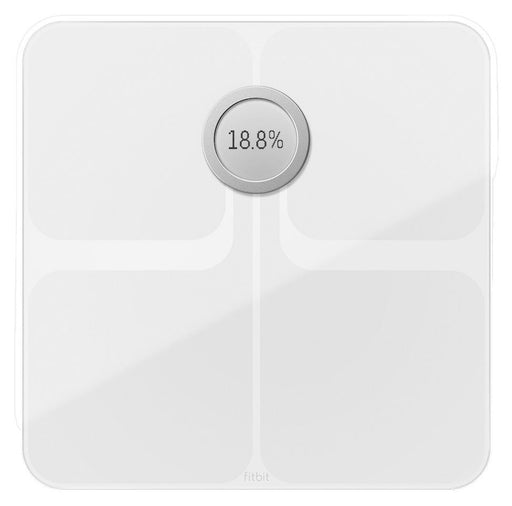 Fitbit Aria Wifi Digital Bathroom Smart Scale - White (Certified Refurbished)