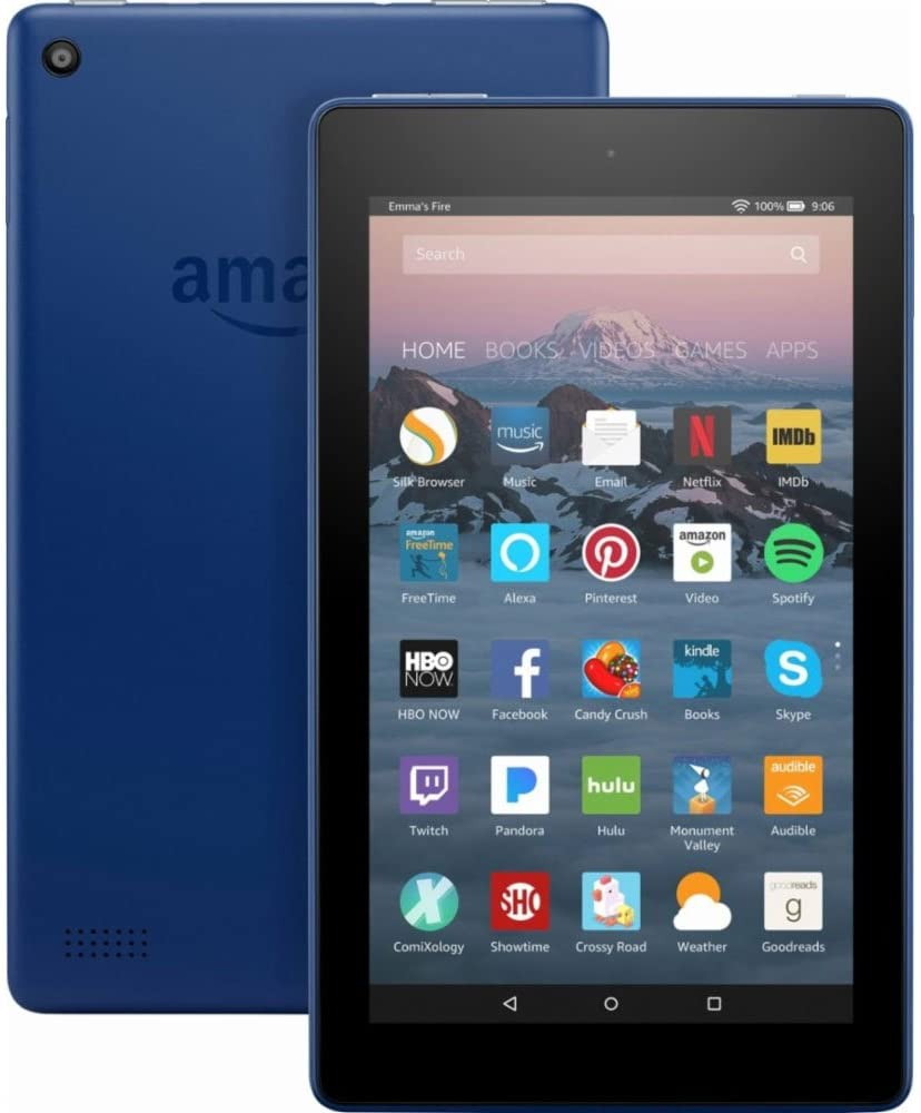 "Amazon Kindle Fire 7 Tablet, 7th Generation, 7"" Screen, 8GB Memory - Marine Blue (Pre-Owned)"