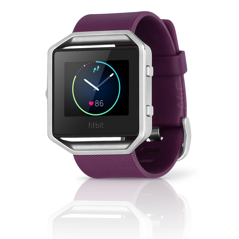 Fitbit Blaze Smart Fitness Silicone Watch, Small - Plum (Certified Refurbished)