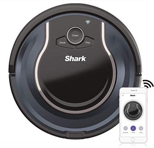 Shark ION ROBOT App-Controlled Robot Vacuum, RV761 - Black / Navy Blue (Certified Refurbished)