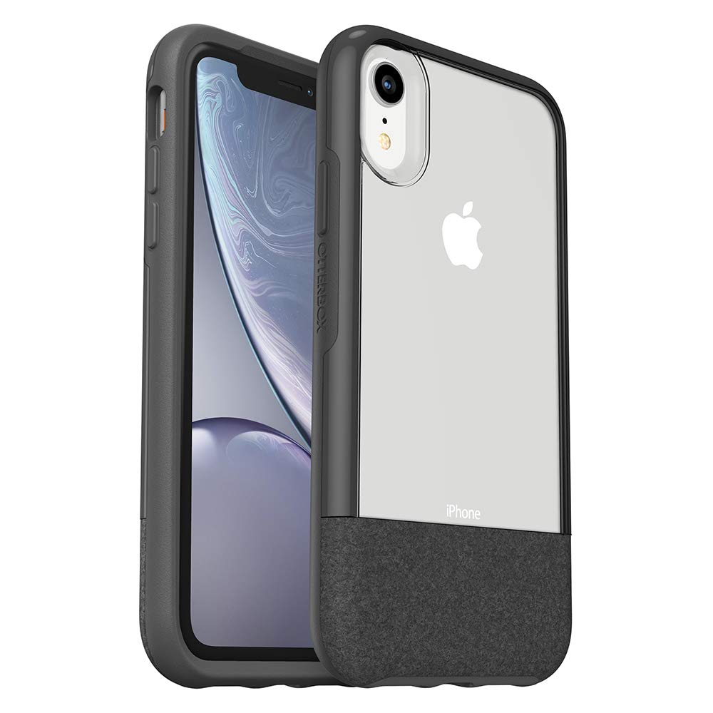 OtterBox Clear & Felt Case Compatible with iPhone XR - Lucent Black (Certified Refurbished)