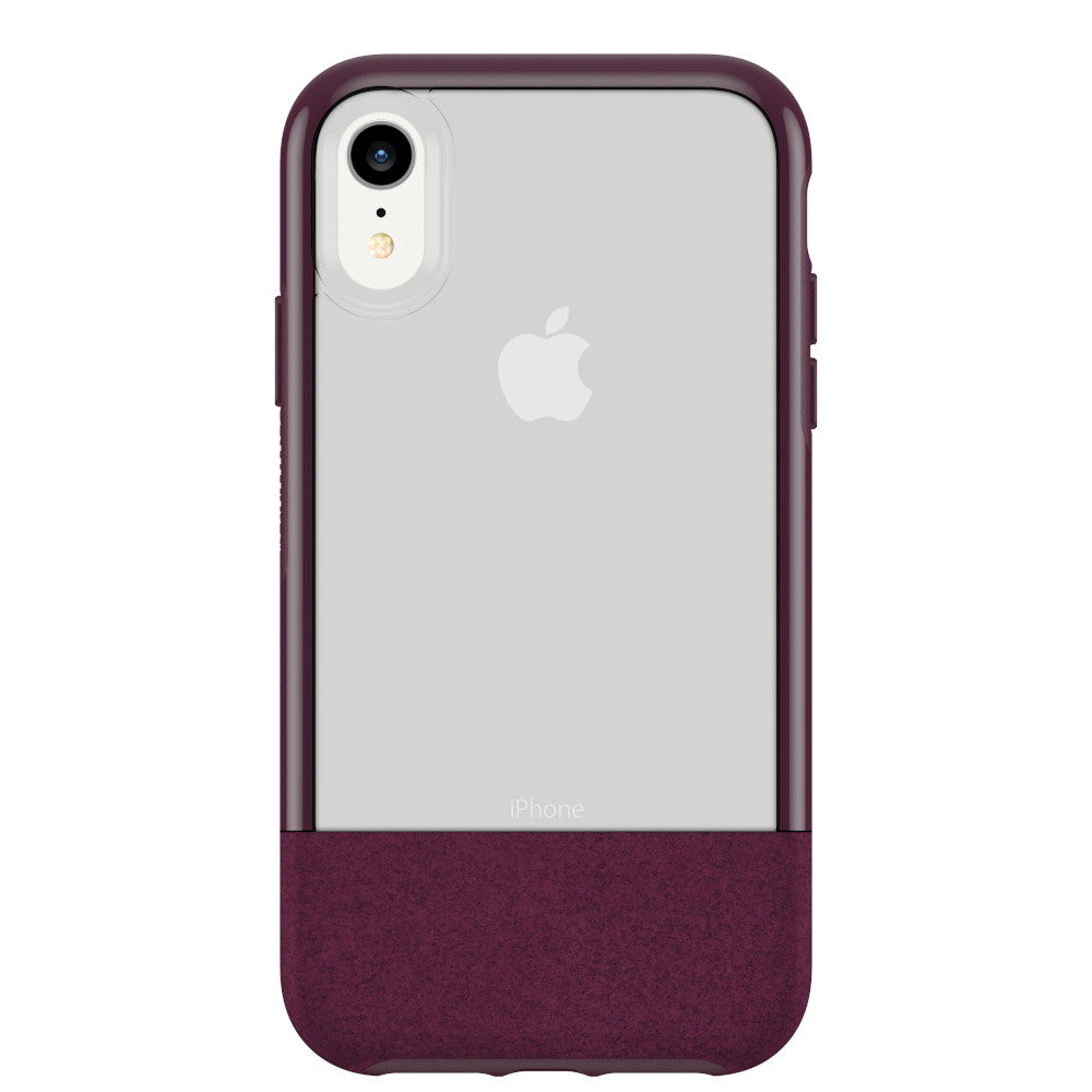 OtterBox Clear & Felt Case Compatible with iPhone XR - Lucent Magenta (Certified Refurbished)