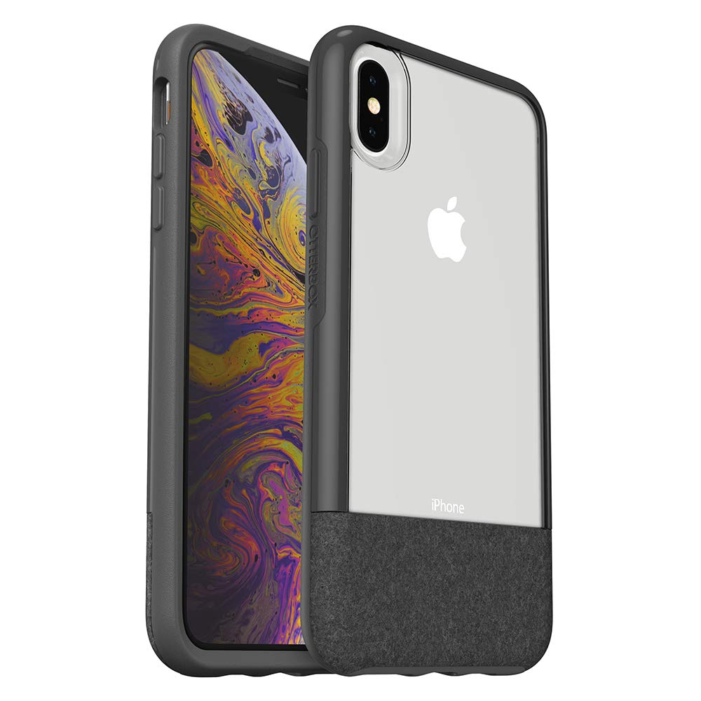 OtterBox Clear & Felt Case for iPhone Xs Max - Lucent Storm (Certified Refurbished)