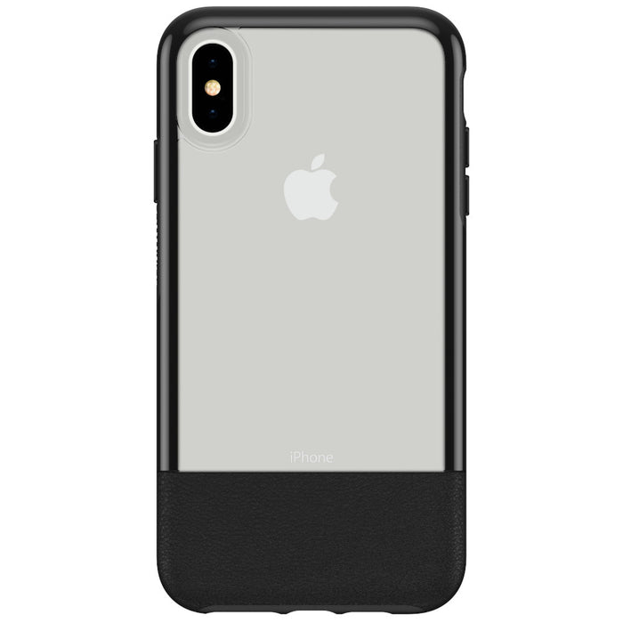 OtterBox Clear & Leather Case for iPhone Xs Max - Lucent Black (Certified Refurbished)