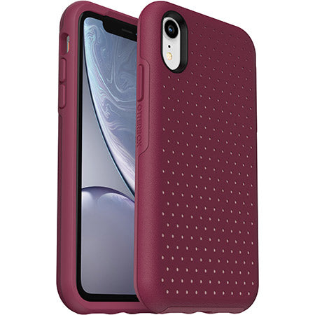 OtterBox Ultra Slim Hard Cover Texture Case for iPhone X / Xs - Berry Splash (Certified Refurbished)