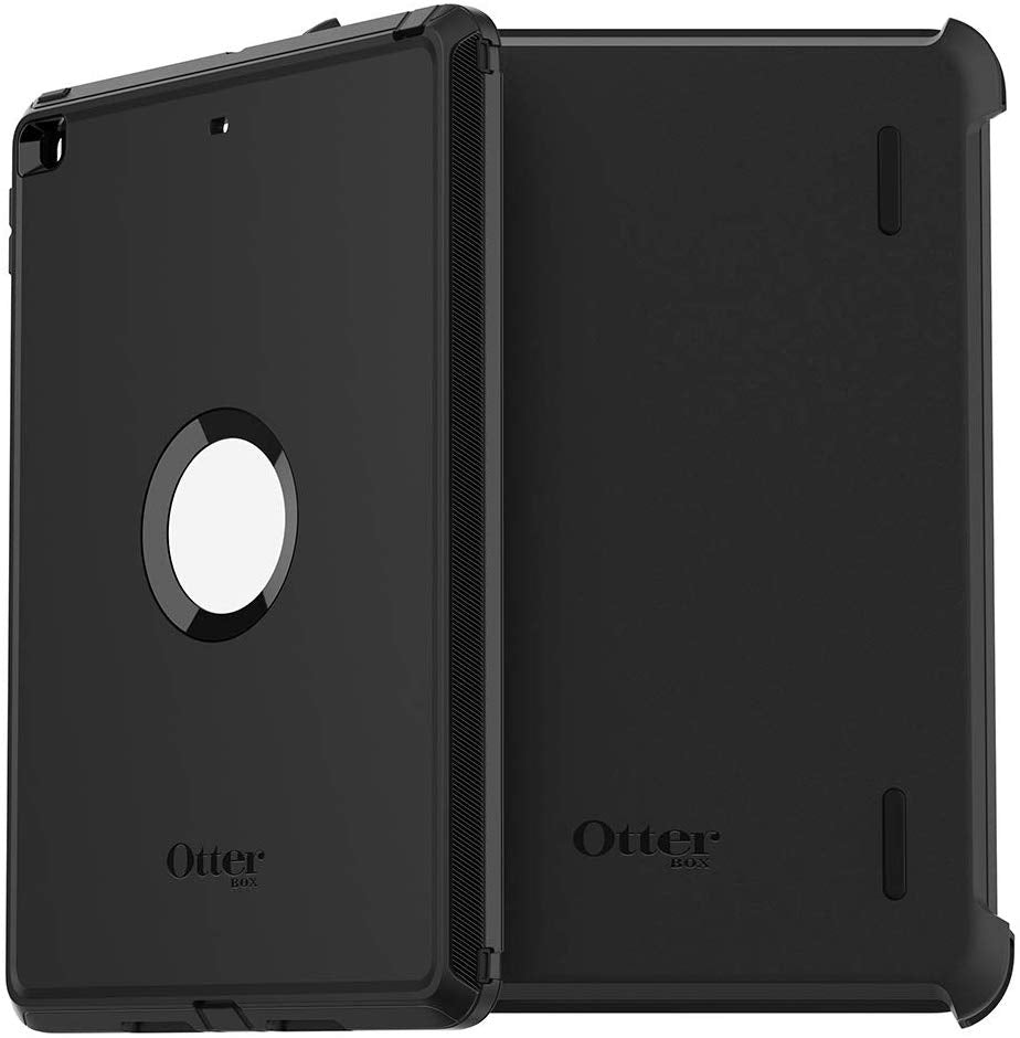 OtterBox DEFENDER SERIES Case & Stand for iPad 7 - Black (Certified Refurbished)