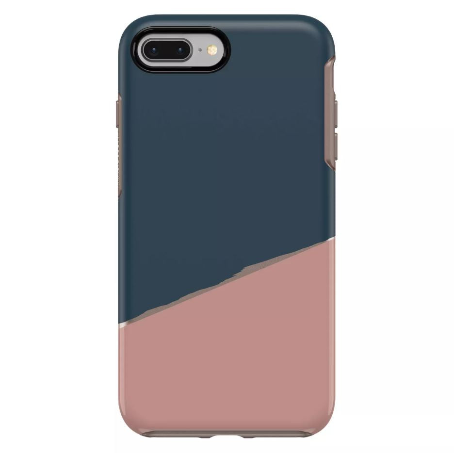 OtterBox SYMMETRY SERIES Case for iPhone 7 Plus / 8 Plus - Blue / Pink Split (Certified Refurbished)