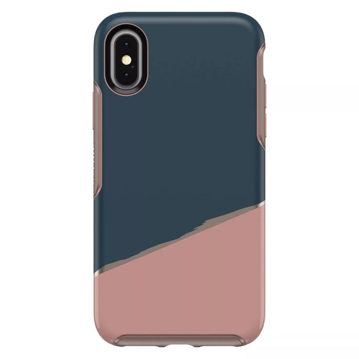 OtterBox SYMMETRY SERIES Case for iPhone X / iPhone XS - Blue / Pink Split (Certified Refurbished)