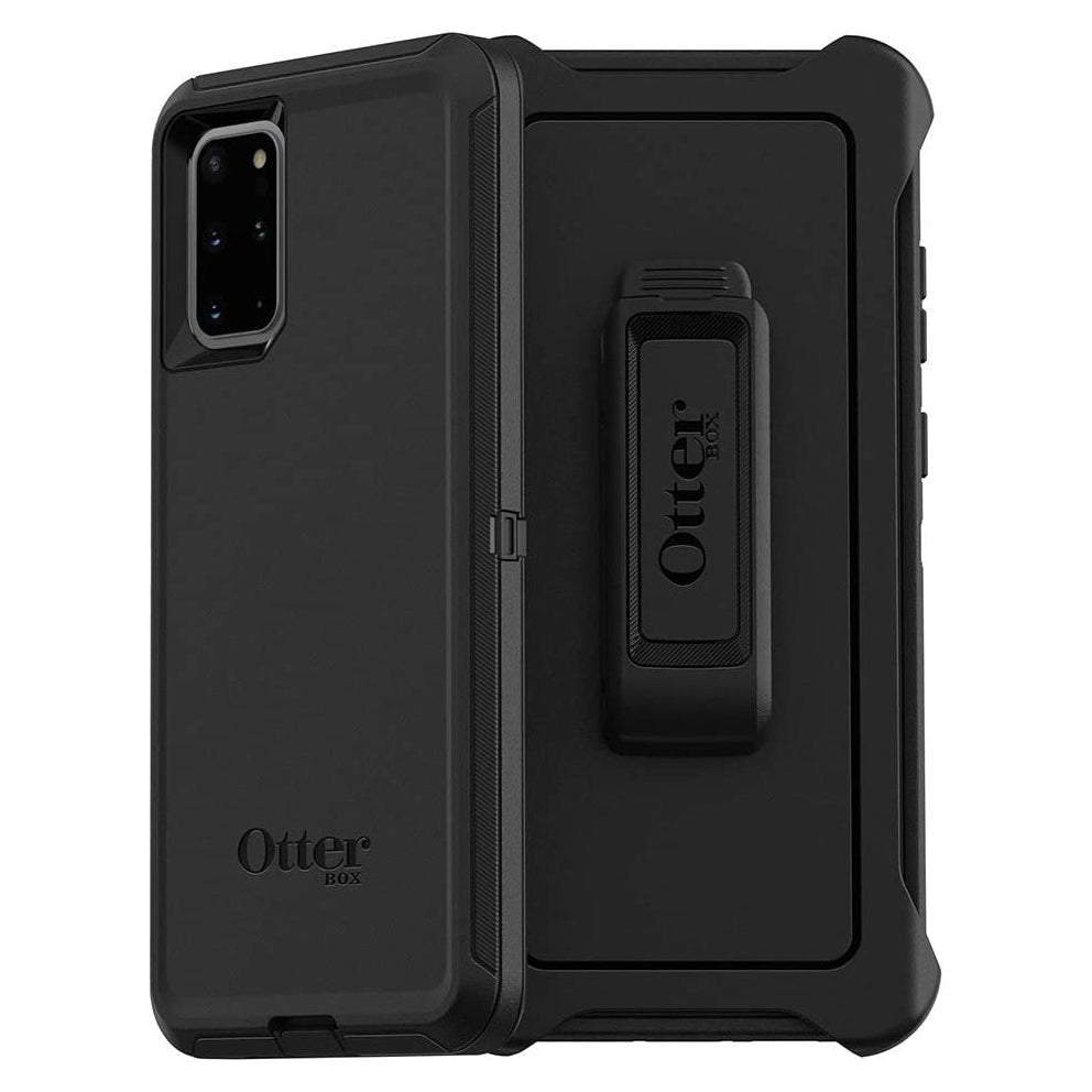 OtterBox DEFENDER SERIES Case & Holster for Galaxy S20+ 5G - Black (Certified Refurbished)