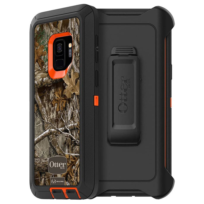 OtterBox DEFENDER SERIES Case & Holster for Galaxy S9 - Realtree Blaze Edge (Certified Refurbished)