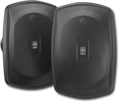 "Yamaha Natural Sound 6-1/2"" 2-Way All-Weather Outdoor Speakers Pair - Black (Certified Refurbished)"