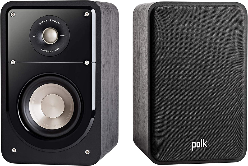 Polk Audio Signature Passive 2-Way Bookshelf Speaker Pair - Black (Refurbished)