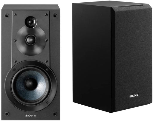 Sony SSCS5 3-Way 3-Driver Bookshelf Speaker System (Pair) - Black (Certified Refurbished)