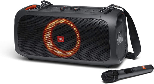 JBL PartyBox On-The-Go Portable Karaoke Party Speaker with Built-in Lights-Black (Refurbished)
