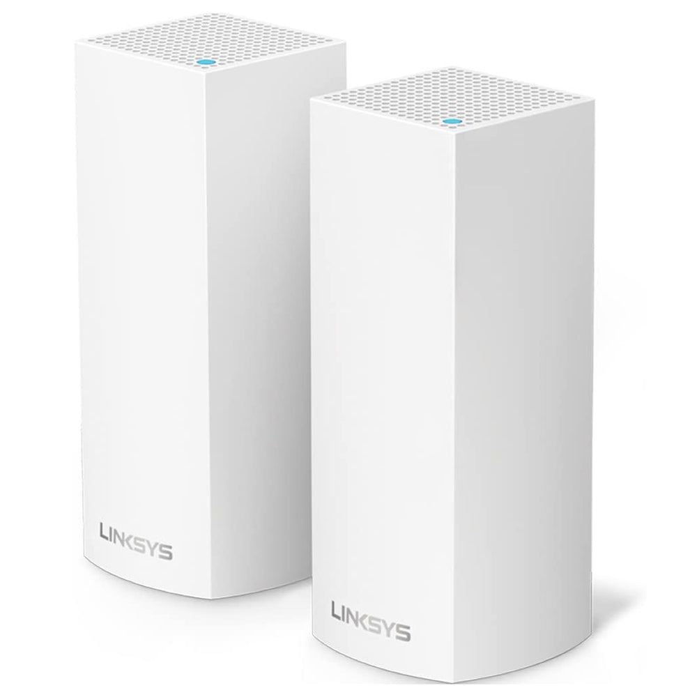 Linksys Velop Tri-Band Mesh Wi-Fi System, 2 Pack - White (Certified Refurbished)