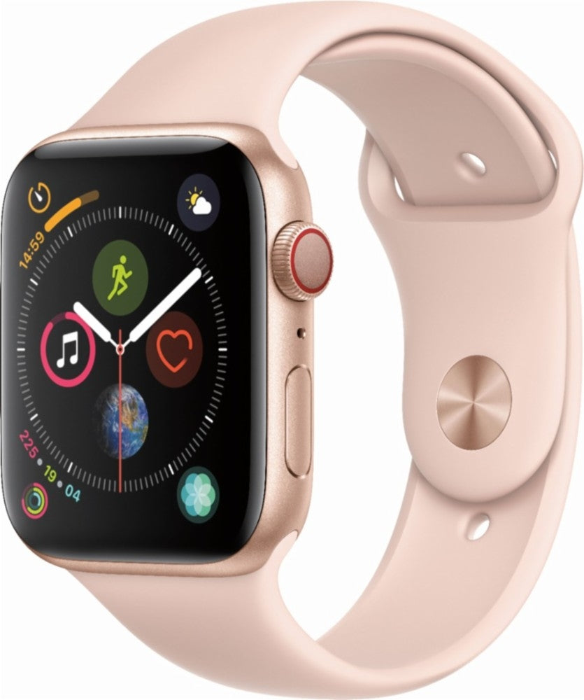 Apple Watch Series 4 (GPS+LTE) - 40MM Gold Aluminum Case & Pink Sand Sport Band (Certified Refurbished)
