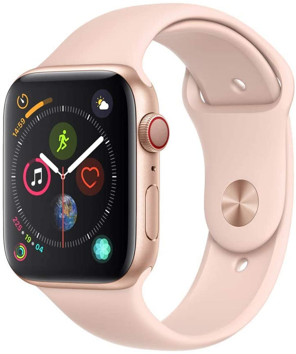 Apple Watch Series 4 GPS+LTE w/ 44MM Gold Aluminum Case & Pink Sand Sport Band (Certified Refurbished)