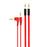 2-Pack Cable - 1.5m AUX Flat + 1.5m w/ Angled End - Red