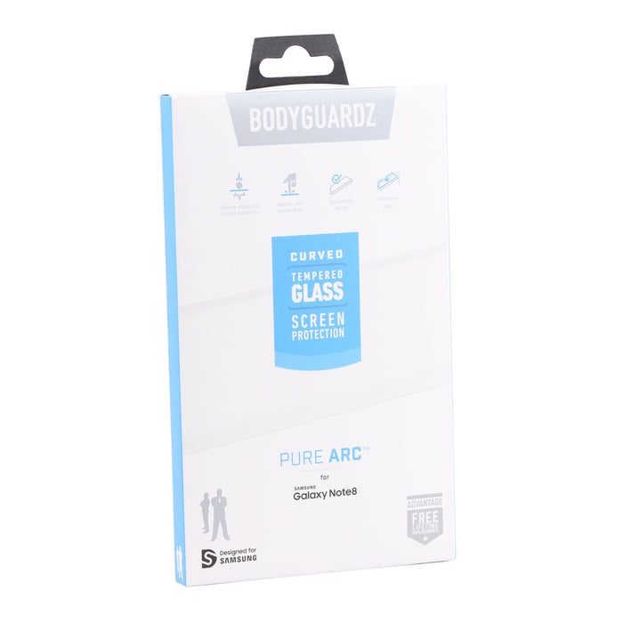 BodyGuardz Pure ARC Samsung Note8 Curved Glass Screen Protector