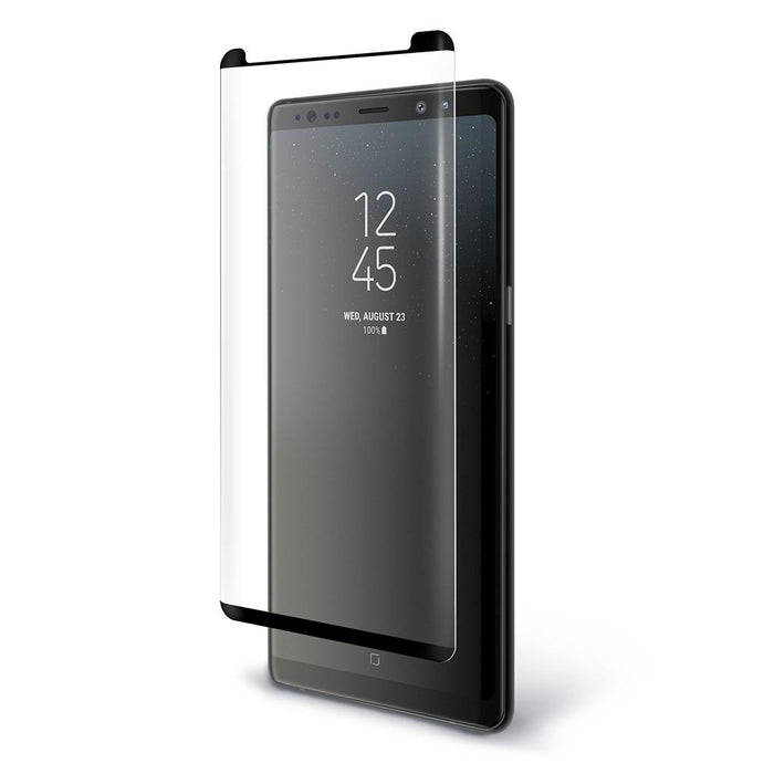 BodyGuardz Pure ARC Samsung Note8 Curved Glass Screen Protector - Black