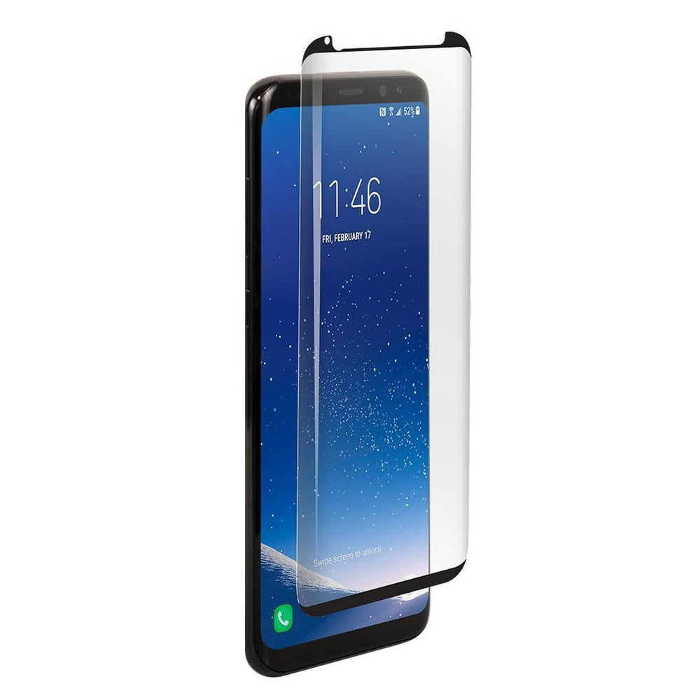 BodyGuardz Pure ARC Samsung Galaxy S8+ Curved Glass Screen Protector - Clear