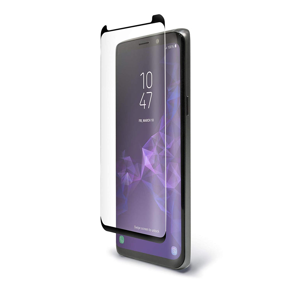 BodyGuardz Pure ARC Samsung Galaxy S9 Curved Glass Screen Protector - Clear