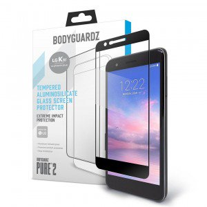 BodyGuardz Pure2 LG K30 Tempered Glass Screen Protector - Clear