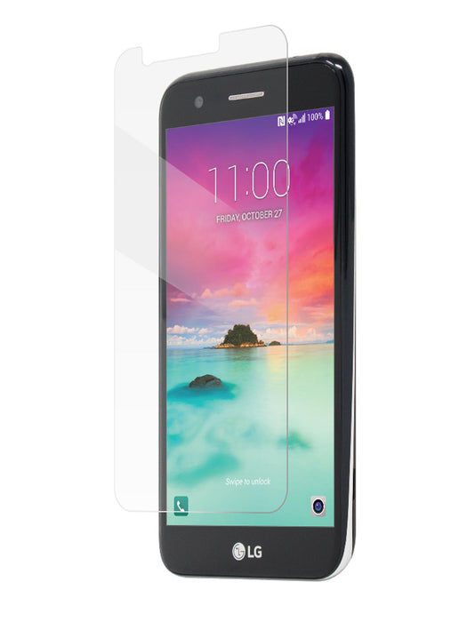 BodyGuardz Pure2 Tempered Glass Screen Protector for LG K20 - Clear