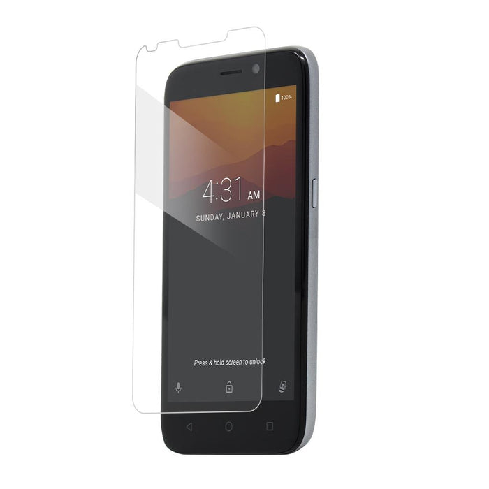 BodyGuardz Pure2 Tempered Glass Screen Protector for ZTE Maven 3 - Clear