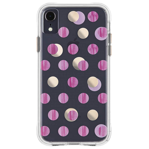 Case-Mate Tough Wallpapers Case for iPhone XR - Pink Dots