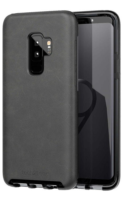Tech21 Evo Luxe Case For Galaxy S9+ (ONLY) - Black Leather