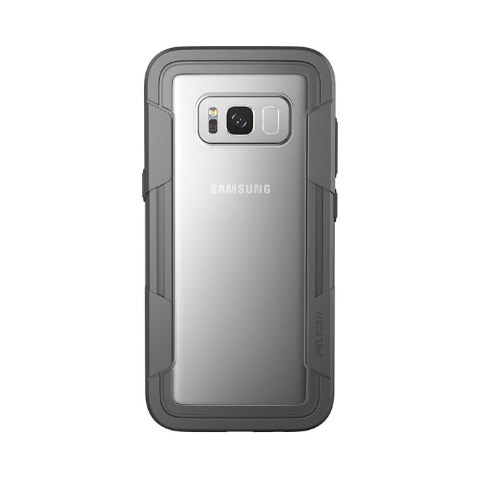 Pelican Voyager Case for Samsung Galaxy S8 Plus (ONLY) - Gray / Clear